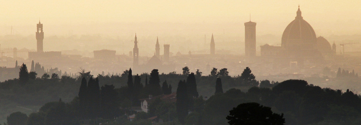 Florence seen by Chianti hills